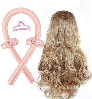 (Pink) - Heatless Hair Curlers For Long Hair, No Heat Silk Curls Headband You Can To Sleep In Overnight, Soft Foam Hair Ro...