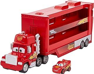 Disney Pixar Cars Camion Transporteur Mack pour transporter jusqu'à 18 mini-véhicules, mini voiture Flash McQueen incluse,...