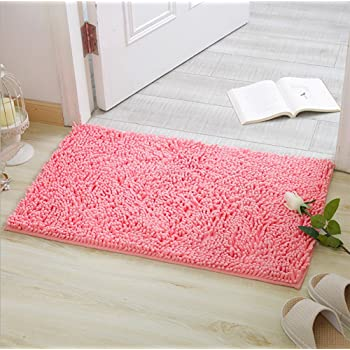 Alfombras de Baño, Alfombrilla de Baño Antideslizante Microfibra Suave Alfombra Lavar a Maquina Adecuado para Sala de Estar/Cocina / Dormitorio de Interior/Exterior (Rosa): Amazon.es: Hogar