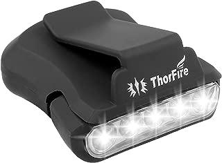 Thorfire Cap Hat Light 5-LED Headlamp Rotatable Ball Cap Visor Light Clip-on Hat Light Hands Free for Hunting Camping Fishing (Pack of 1)