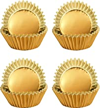 Sumind Foil Metallic Cupcake Case Liners Muffin Paper Baking Cups (Gold, 400 Pieces)