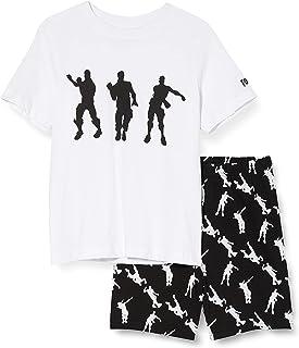 Fortnite Dancing Emotes Boys Short Pyjamas Set White/Black Juegos de Pijama para Niños