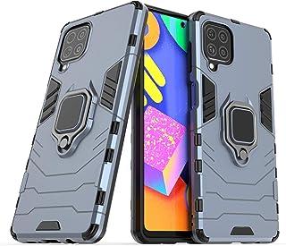 كفر حماية سامسونج جالكسي M62 من فون جرت - ضد الصدمات مع حامل الهاتف المحمول، غطاء لسامسونج جالاكسي M62- ازرق غامق