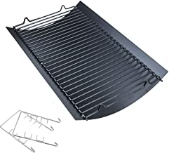 Hisencn 20 inch Ash pan for Chargriller 5050, 5072, 5650, 2123 Charcoal Grills, Char-Griller Model 200157, Replacement Part with 2pcs Fire Grate Hanger, 20