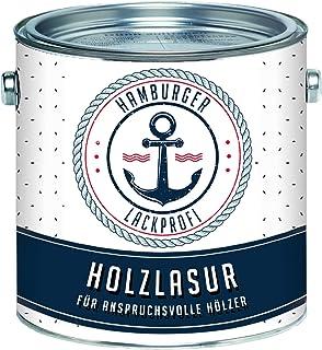 Hamburger Lack-Profi Universale Holzlasur AUSSEN Teak Seidenglänzend & Innen besonders atmungsaktiv & UV beständig 1 L