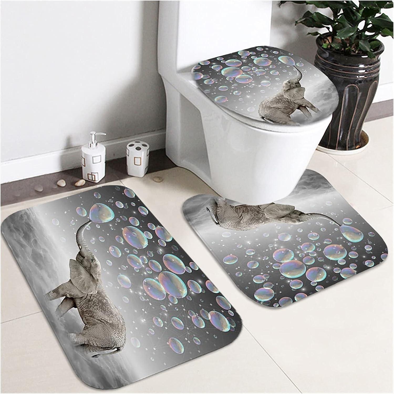 ppqq Easy to Use Shower Albuquerque Mall 3D Print Ranking TOP14 Elephant Sets Do Ocean Bathroom