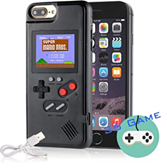 Gameboy Case for iPhone, Autbye Retro 3D Phone Case Game Console with 36 Classic Game, Color Display Shockproof Video Game Phone Case for iPhone Xs MAX (Black)