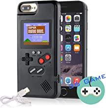 Gameboy Case for iPhone, Autbye Retro 3D Phone Case Game Console with 36 Classic Game, Color Display Shockproof Video Game Phone Case for iPhone 6/6S/7/8 (Black)