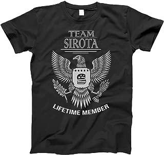 Team Sirota Lifetime Member Family Surname T-Shirt for Families with The Sirota Last Name