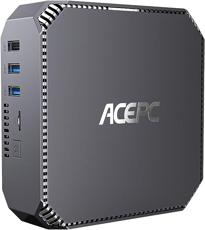 АСЕРС Mini Computer Windows 10 Pro 8GB DDR3 128GB SSD Intel Celeron J3455 Processor(up to 2.3GHz) Mini PC Dual Display at 4K HD Gigabit Ethernet 2.4G+5G Dual-Band WiFi BT 4.2 | Amazon