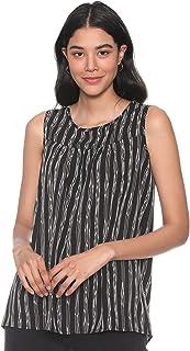 Andiamo Fashion Striped Sleeveless Round Neck Blouse for Women XL - 2725614071502
