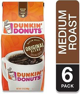 Dunkin' Donuts Original Blend Medium Roast Whole Bean Coffee, 12 Ounces (Pack of 6)