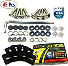 Stainless Steel License Plate Screws -Anti Theft Frames Fasteners Screws Tamper Resistant Kits for License Plates Security and Covers
