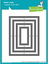 Lawn Fawn Lawn Cuts Custom Craft Die - Large Cross-Stitched Rectangle Stackables (LF1178)