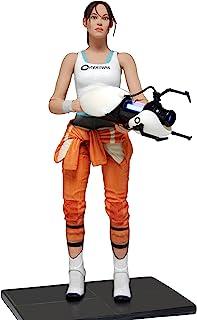 NECA- Portal Chell Pupazzetto, Colore Bianco, Arancione, 18 cm, 45325