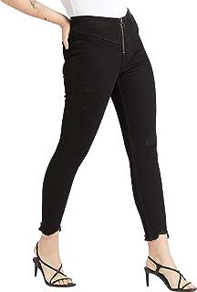 Lee Cooper Women 3017680 FRONT ZIP HI Trousers