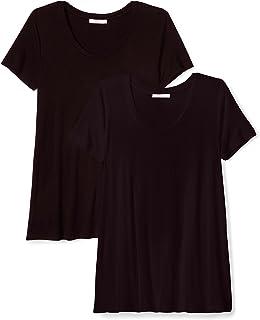 [Daily Ritual] スクープネック ジャージー素材 リラックスフィット 半袖 Aラインシルエット Tシャツ マルチパック レディース