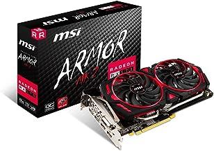 MSI Gaming Radeon RX 570 256-bit 8GB GDRR5 DirectX 12 VR Ready CFX Graphcis Card (RX 570 ARMOR MK2 8G OC) (Renewed)