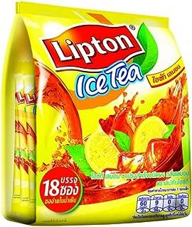 Lipton Iced Tea Sugar Sweetened Iced Tea Mix, Natural Lemon Flavor 275g (18 Sachets)
