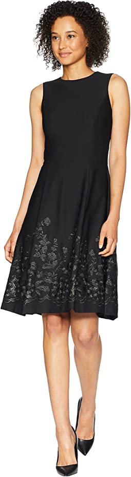Calvin Klein Embroidered A-Line Hem Dress CD8C57NT