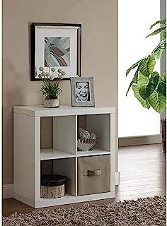 Versatile Better Homes and Gardens Square 4-Cube Organizer (White)