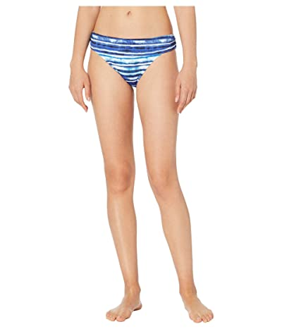 La Blanca Serene Stripes Shirred Band Hipster (Blue) Women