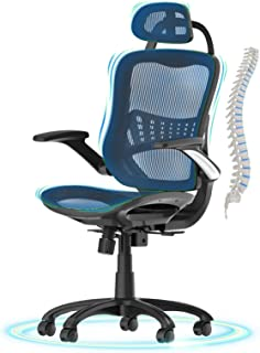 Office Chair Ergonomic Desk Chair,Komene High Back Adjustable Headrest Computer Chair Breathable Mesh Executive Chair with...
