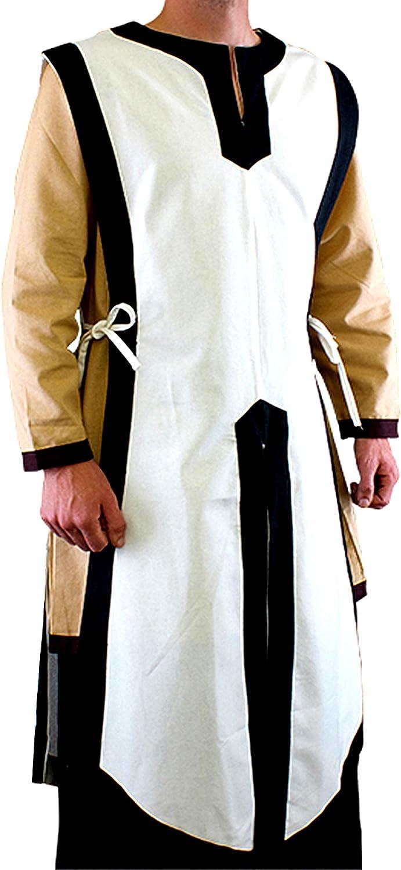 PRIMEBAIL Mens Crusader Costume Medieval Tunic Warrior Soldering Knight Re Sales