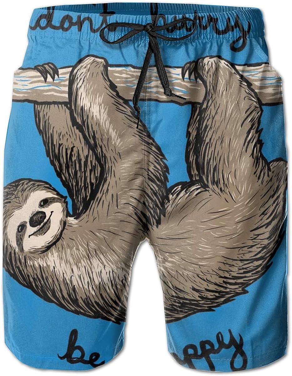 Cey99P-A Mens Phoenix Mall Sloth Quick Dry Short Water Slim supreme Trunks Swim Fit