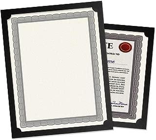 Plain Black Certificate Holder - Set of 10, 9-1/2