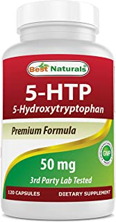 Best Naturals 5-HTP 50 mg 120 Capsules, 5 HTP Capsules Supports Relaxation & restful Sleep