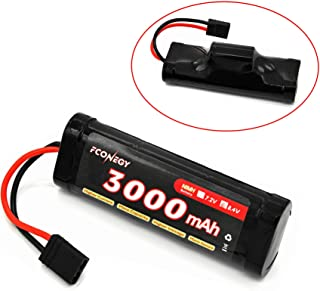 FCONEGY NiMH Battery 3000mAh 7.2V Flat Pack with Tamiya Plug for RC Cars, RC Truck,RC Gun,Receiver, RC Hobby