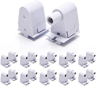 Single Pin FA8 Lamp Holder JACKYLED 10 Pairs Tombstone Base T8 T10 T12 LED Socket UL Listed for Fluorescent LED Tube Light Retrofitting Bulbs Fixtures Replacement Plunger Socket