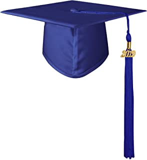 Unisex Matte Adult Graduation Cap with Tassel 2019 for High School/Bachelor