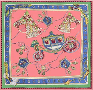 Fashion Ladies Twill Scarf Geometric Pattern Silk Scarf Decorative Square (Color : 04, Size : 130 * 130cm)