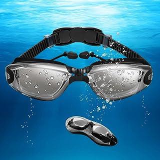 Unisex-Adult Swim Googles, No Leaking & Anti Fog Polarized Swimming Goggles with Quick Adjustable Strap
