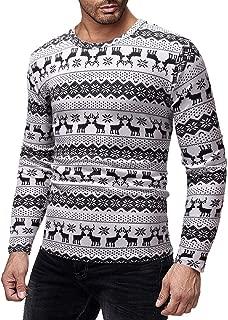 PASATO Men Christmas Printed T-Shirt Autumn Winter Pullover Top Blouse