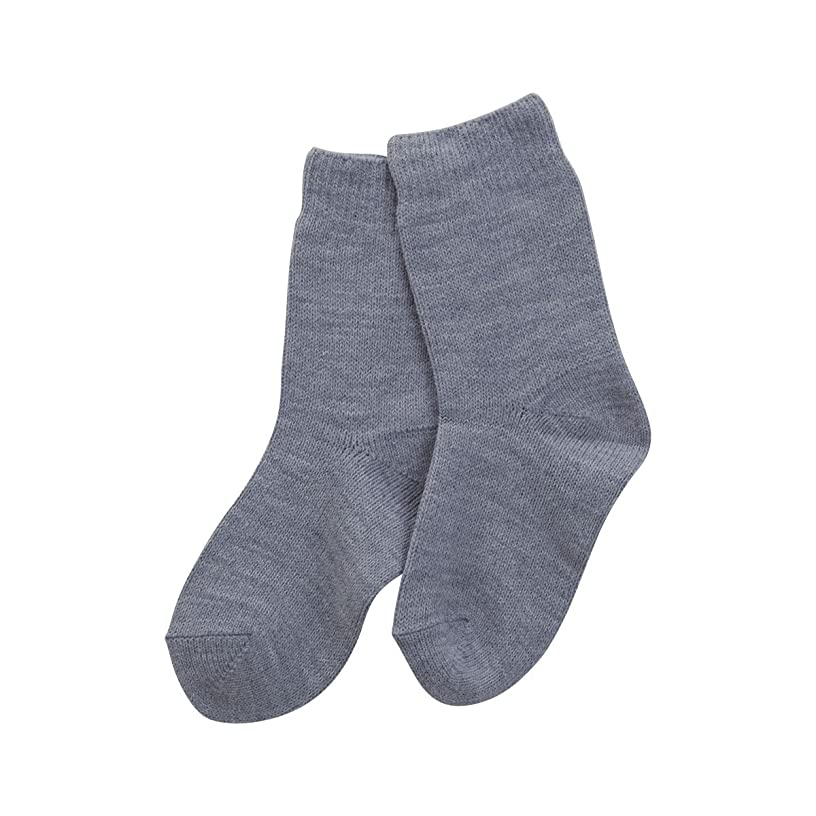 百年イサカ消える(コベス) KOBES ゴムなし 毛混 超ゆったり特大サイズ 大きいサイズ 靴下 日本製 婦人靴下