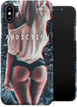Trippy Addiction Sexy Ass New York Girl Drugs High Life Trill Plastic Phone Snap On Back Case Cover Shell Compatible with iPhone Xs Max