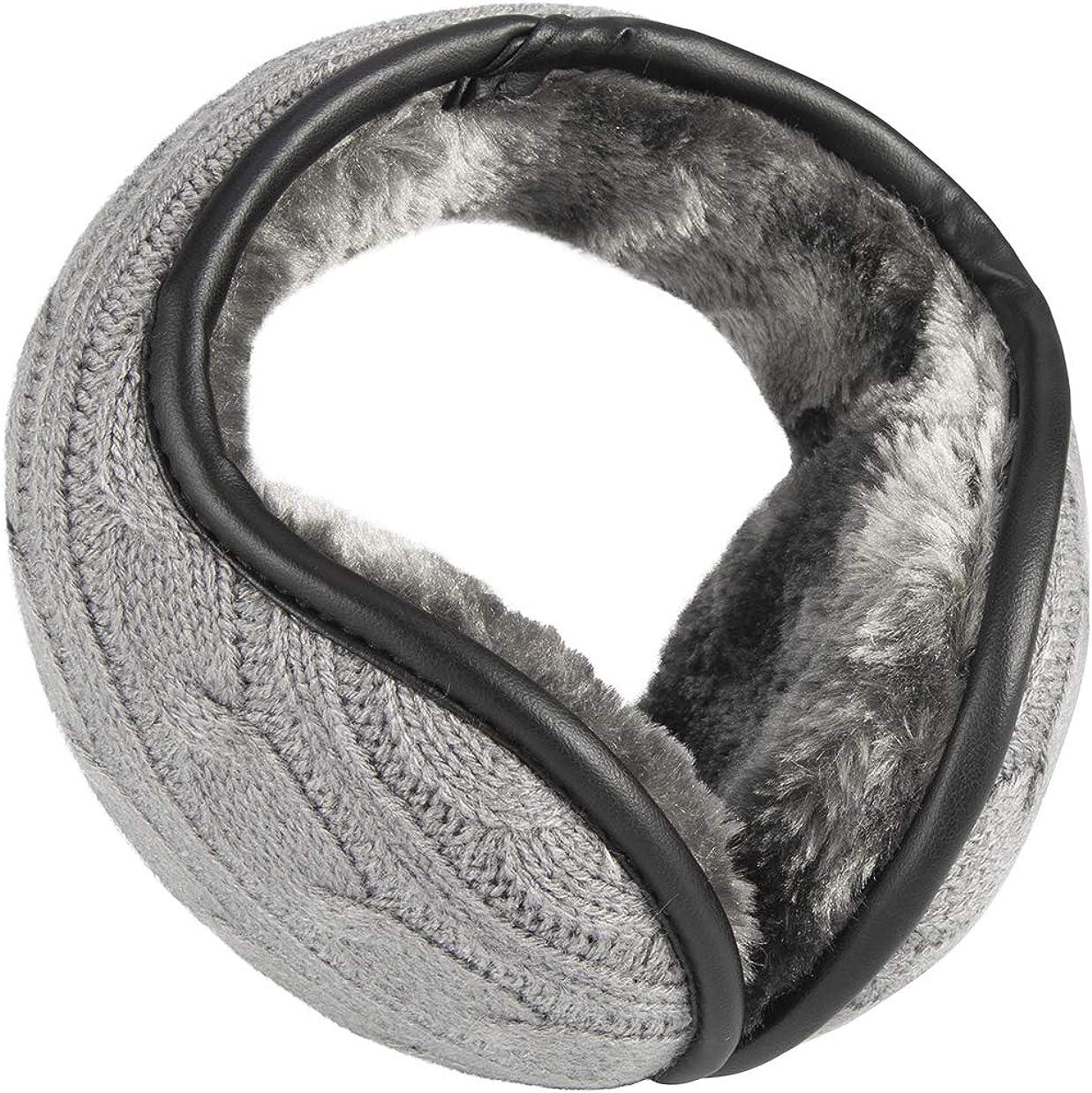 Winter Ear Muff, Unisex Earmuffs Behind The Head Ear Warmer Folding Ear Covers for Men Women