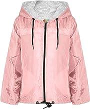 Kids Girls Boys Baby Pink Hooded Raincoats Cagoule Lightweight Jackets Rain Mac 5-13