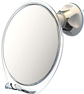آینه دوش Luxo ، آینه اصلاح با نگهدارنده تیغ مخصوص دوش و کاپ ساکشن قدرتمند - آینه ضد مه شکن ضد دوش و موچین