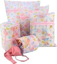 HOKIPO® Mesh Laundry Clothes Washing Bag, Pack of 5