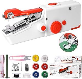 Macchina Cucire Portatile, Mini Macchina da Cucire Elettrica Portatile, Facile da Usare e Punto Veloce, Adatto Per Vestiti...