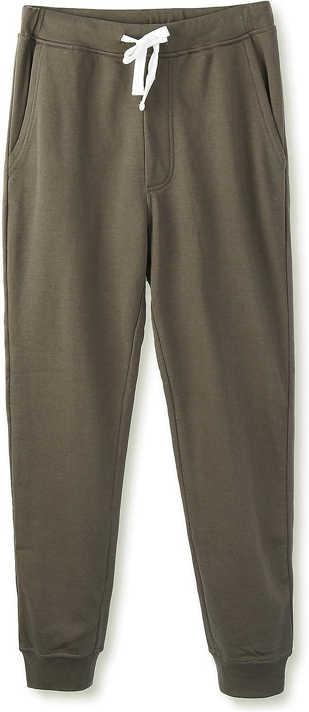HETHCODE Mens Classic Fit Basic Oakland Mall Closed-Bottom Fleece Pocketed Popular popular Jo