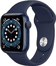 Apple Watch Series 6 (GPS, 40mm) - Blue Aluminum Case with Deep Navy Sport Band (Renewed)
