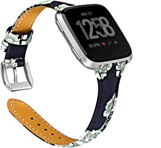 Joyozy Genuine Leather Bands Compatible with Fitbit Versa&Fitbit Versa 2 &Fitbit Versa SE&New Fitbit Versa Lite Smartwatch...