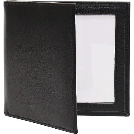 Black Double 4x6 Landscape Leather Picture Frame