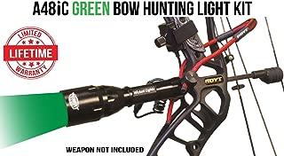 Wicked Lights A48iC Green Bow Hunting Light Kit for Bow Fishing, Predator & Hog Night Hunting