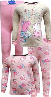 Peppa Pig Girls Bedtime Stories 4 Piece Cotton Toddler Pajamas